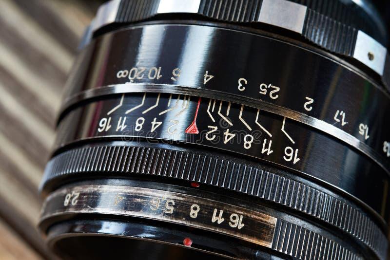 Lente de cámara retra del slr de la foto fotos de archivo libres de regalías