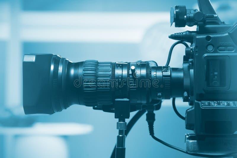 Lente de câmara de vídeo profissional imagem de stock