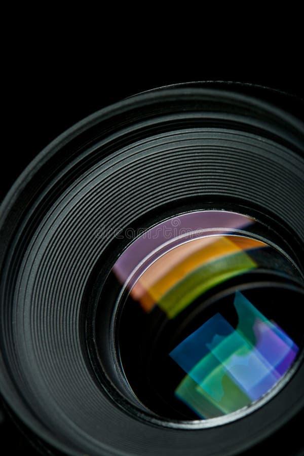 Lente de câmera do close up imagem de stock