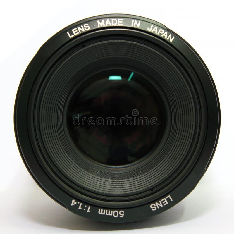 Lente de la cámara 50m m imagenes de archivo