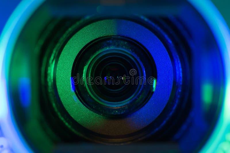 Lente de la cámara de vídeo fotos de archivo