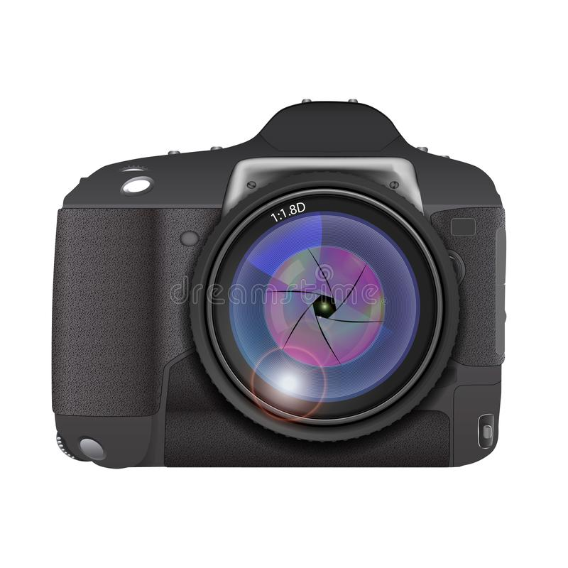 Lente de la foto de la cámara, ejemplo del vector ilustración del vector