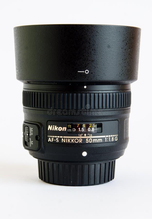 Lente de Nikon imagens de stock