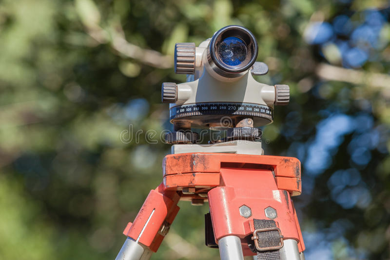 Lente di Tripod Automatic Level dell'ispettore fotografia stock libera da diritti