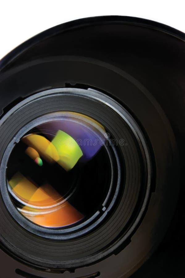 Lente e capa, close up macro detalhado isolado, grande do zumbido, vertical foto de stock royalty free