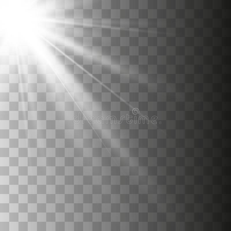 Lente transparente do special da luz solar do vetor ilustração do vetor
