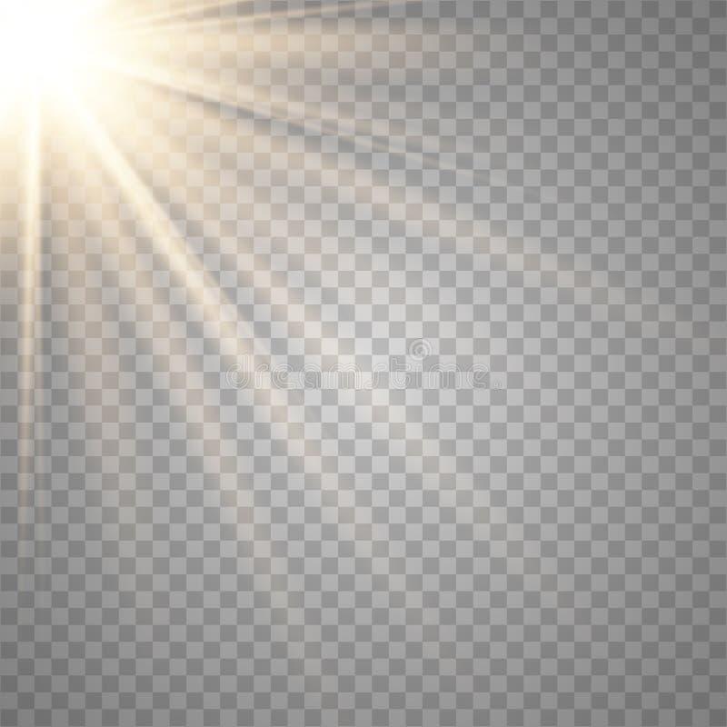 Lente trasparente dello speciale di luce solare di vettore illustrazione vettoriale