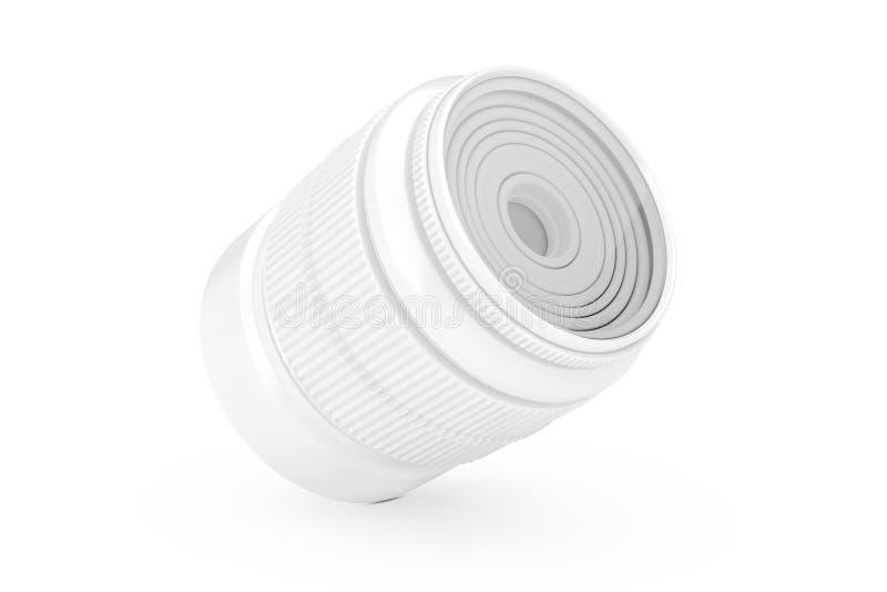 Lente vazia branca da foto da câmera em Clay Style rendi??o 3d imagem de stock royalty free