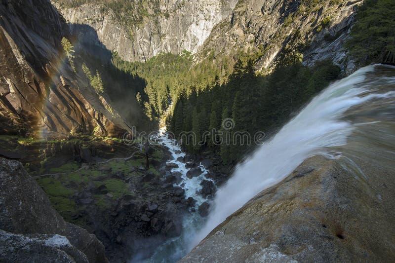 Lentedaling van het Nationale Park van Yosemite in Californi?, de V.S. stock afbeelding