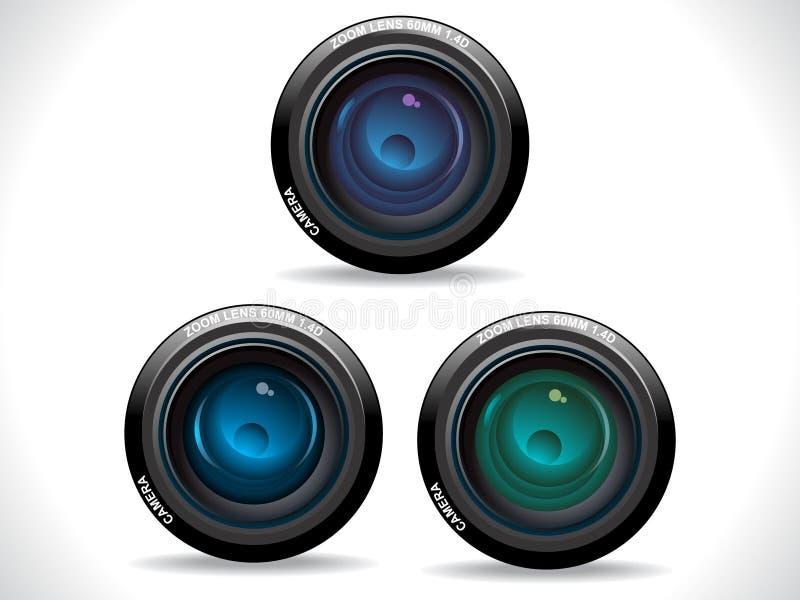 Lentes de câmera coloridas abstratas ilustração royalty free