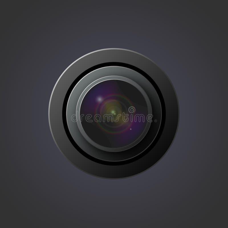 Lentes de la imagen del vector para la cámara stock de ilustración