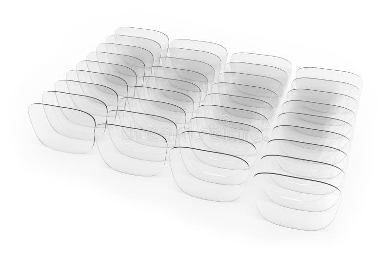 Lentes dos Eyeglasses ilustração stock