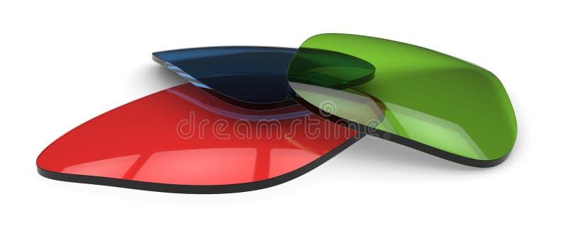 Lentes dos Eyeglasses ilustração royalty free