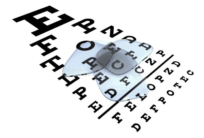Lentes dos Eyeglasses sobre a carta de Shellen ilustração do vetor