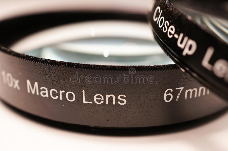 Lentes macras para la cámara imagenes de archivo