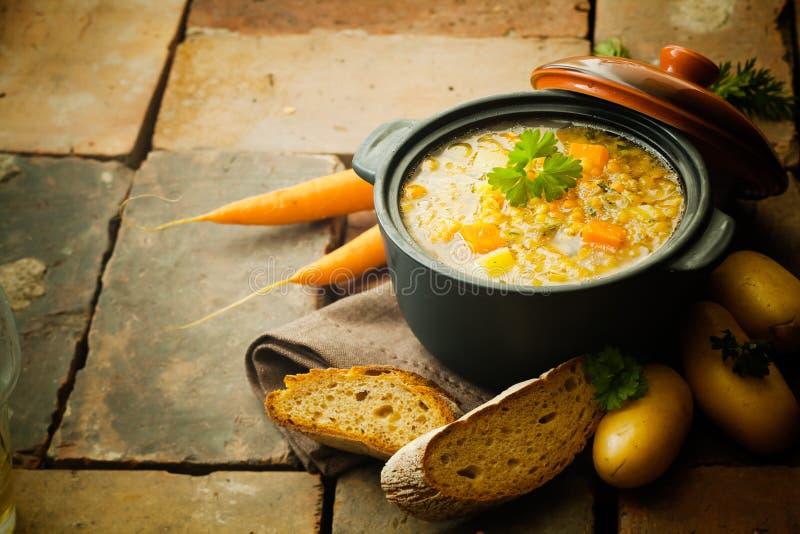 Lenticchie stufato o minestra immagine stock