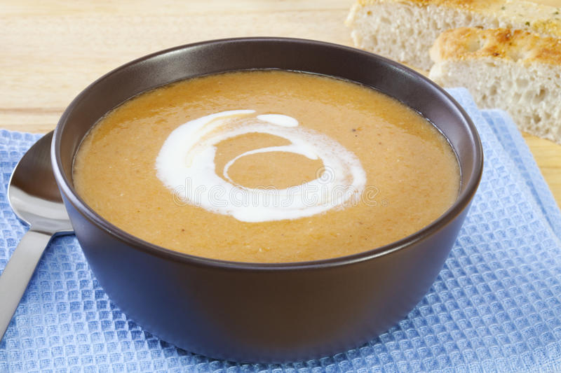 Lentil Carrot Soup royalty free stock photos
