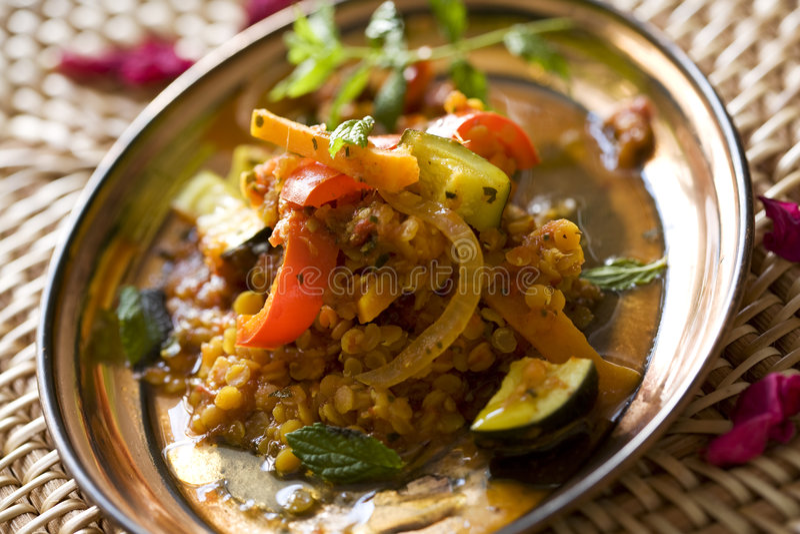 Lentil curry stock photo