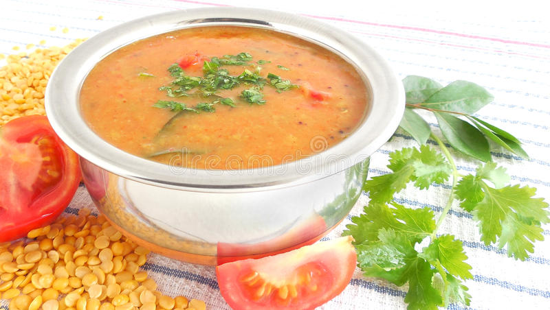 Lentil Curry. Curry made from pigeon pea lentil royalty free stock image
