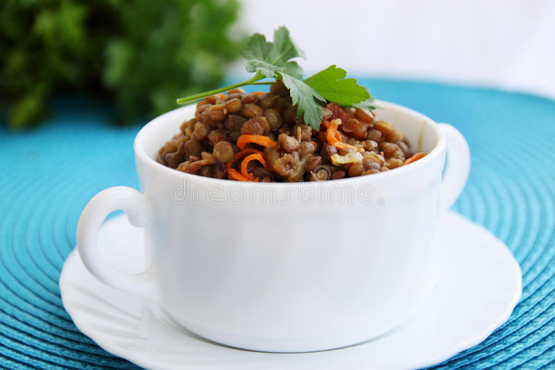 Lentil porridge stock photography