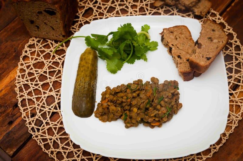 Lentil porridge royalty free stock photos