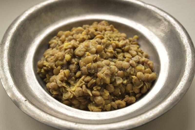 Lentil porridge stock image