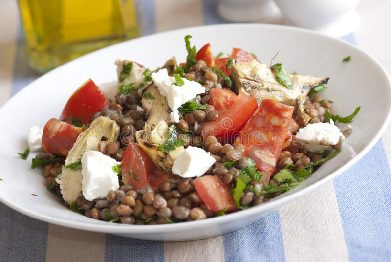 Lentil salad royalty free stock photos