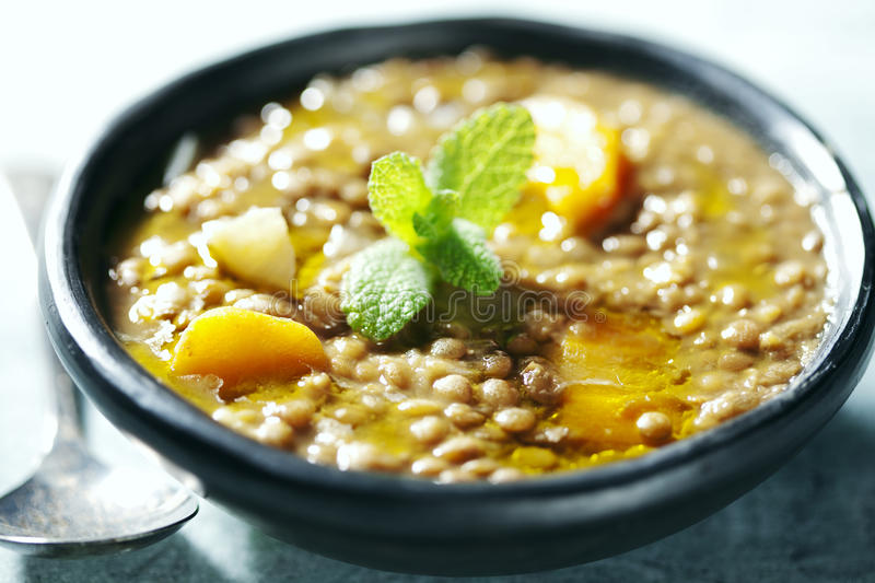 Lentil soup stock photos