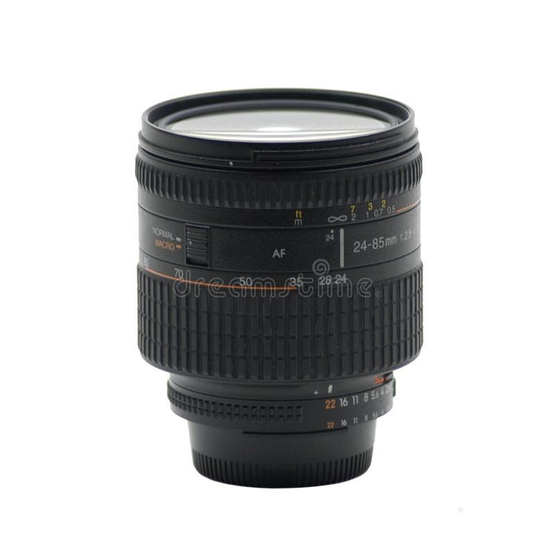 Lentille, 24-85 millimètres image stock