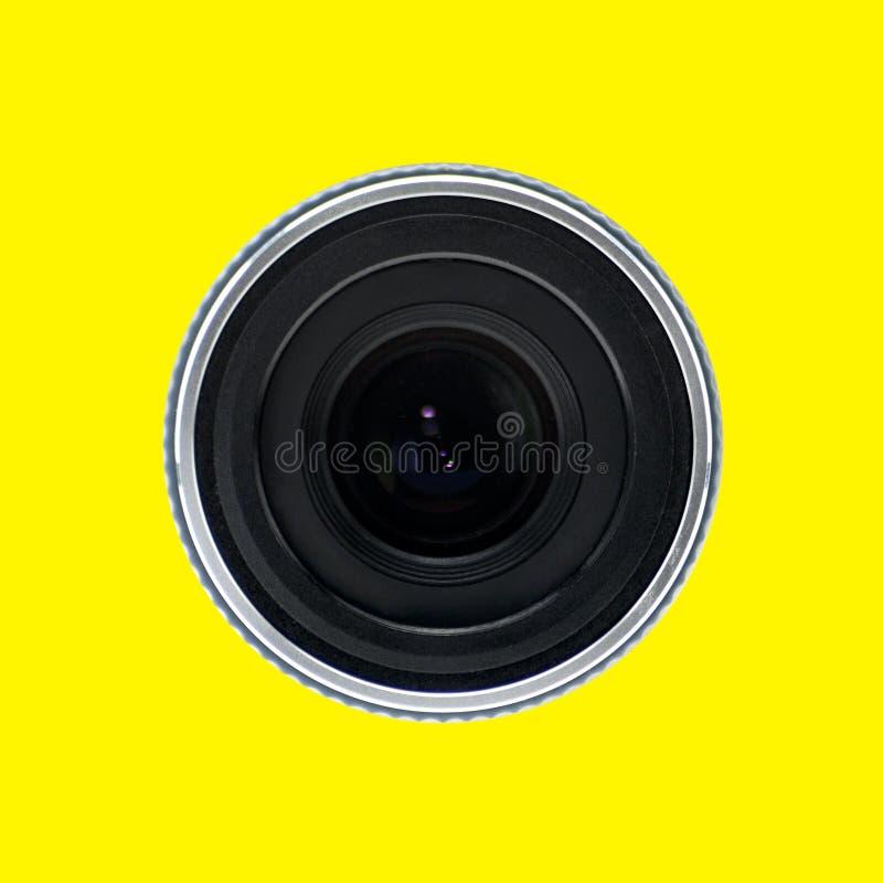 Lentille d'un caméscope sur un fond d'isolement photographie stock libre de droits