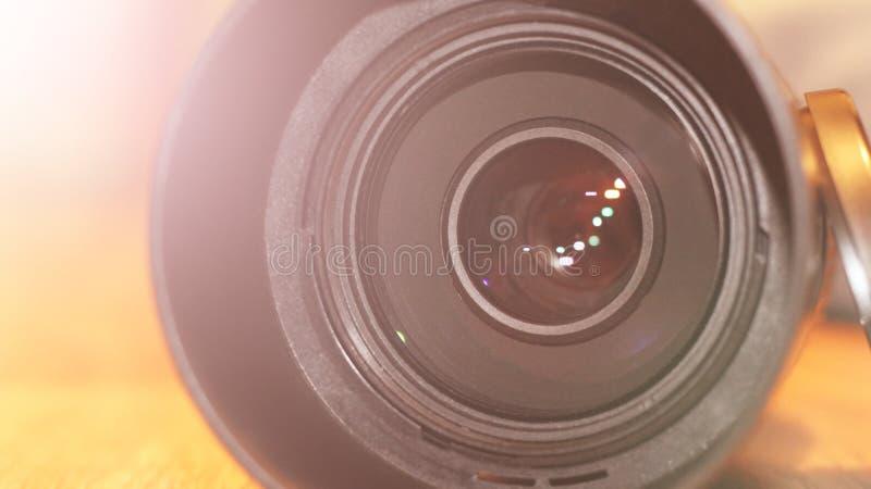 Lentille de caméra vidéo tellement étroitement images libres de droits