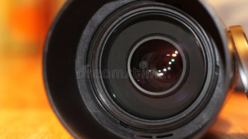 Lentille de caméra vidéo tellement étroitement images stock