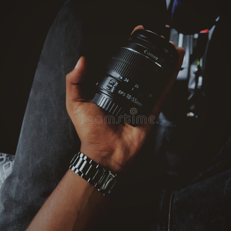 Lentille de Canon photographie stock libre de droits