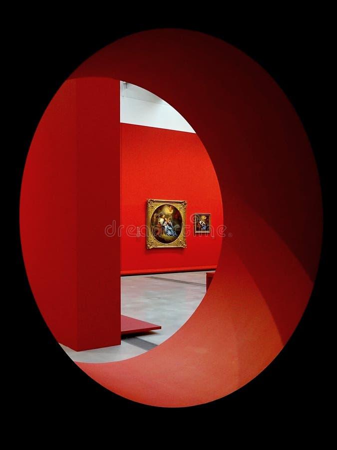 """Lentille de Louvre, exposition """" ; Charles Le Brun, peintre du Roi Soleil """" ; image stock"""
