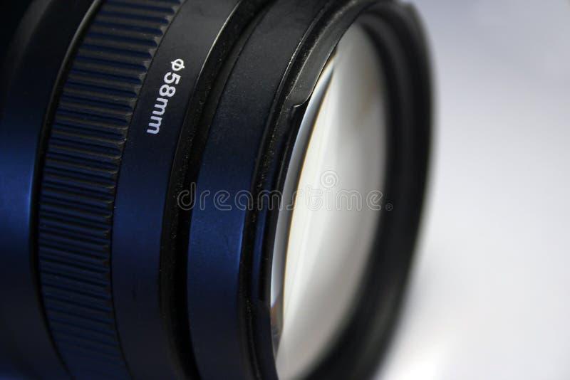 lentille de téléobjectif de 58mm Canon image stock