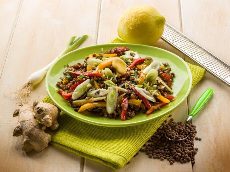 Download Lentils Salad With Capsicum Onions Stock Photo - Image of lemon, appetizer: 29847722