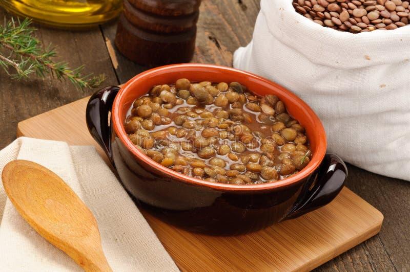 Lentils soup royalty free stock photo