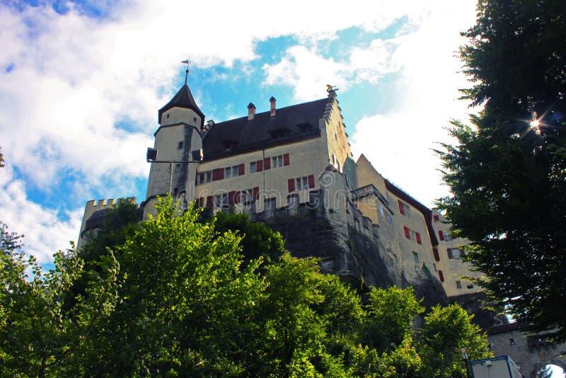 Lenzburg castle stock photo