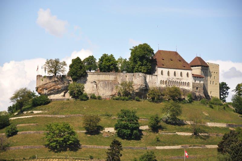 Lenzburg, Switzerland. Medieval castle in Lenzburg, Switzerland stock photo