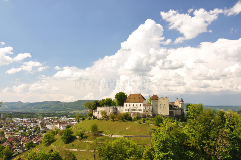 Lenzburg, Switzerland. Medieval castle in Lenzburg, Switzerland stock photos
