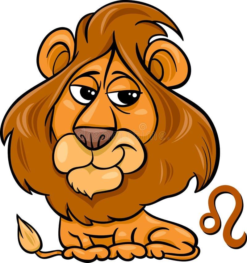 Leo ή το zodiac λιονταριών σημάδι διανυσματική απεικόνιση