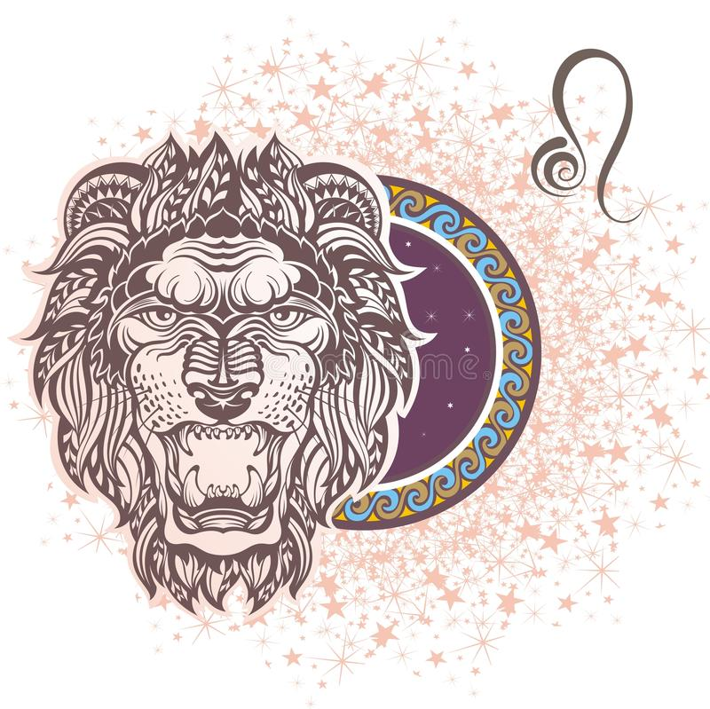 leo σύμβολα δώδεκα σημαδιών σχεδίου έργων τέχνης διάφορο zodiac ελεύθερη απεικόνιση δικαιώματος