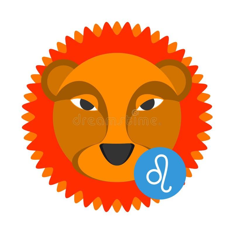Leo astrologii znak odizolowywający na bielu Horoskopu zodiaka symbol ilustracji