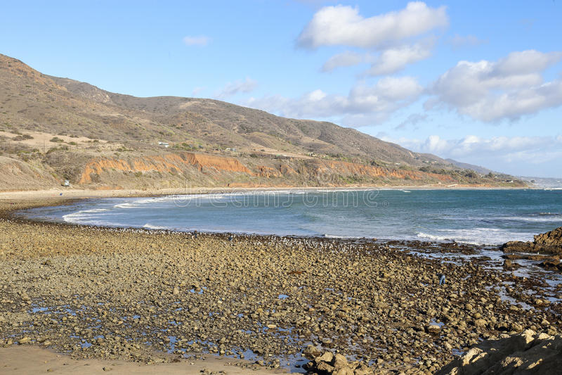 Leo Carrillo State Beach, Malibu California immagine stock