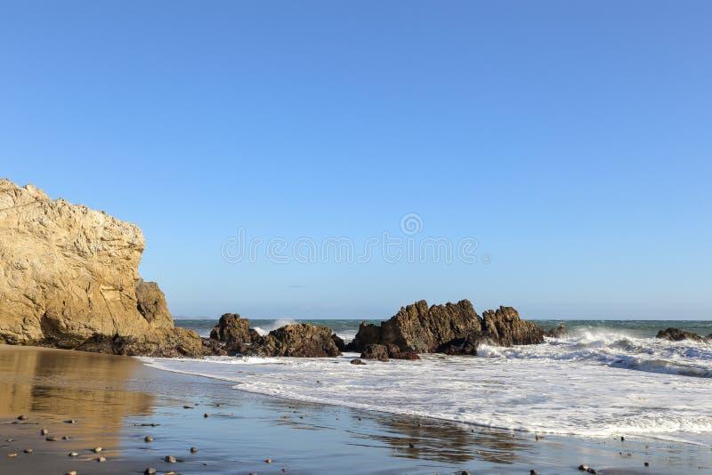 Leo Carrillo State Beach, Malibu California immagine stock libera da diritti