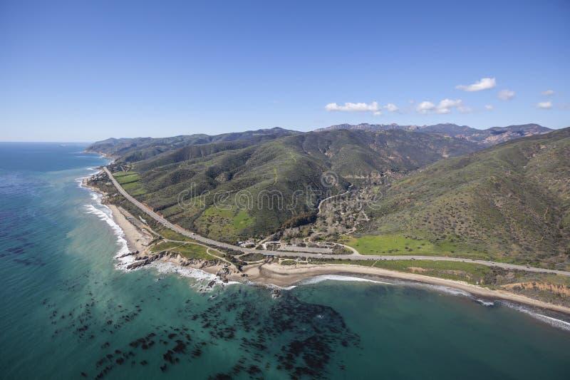 Leo Carrillo State Beach Malibu Kalifornien antenn arkivfoton