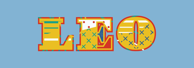 Leo Concept Word Art Illustration libre illustration