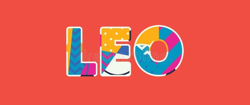 Leo Concept Word Art Illustration ilustração stock