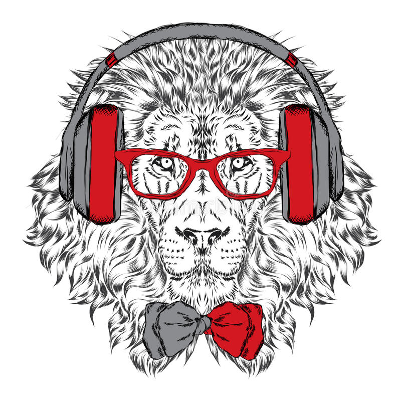 Free Leo Headphones And Sunglasses . Vector Illustration. Royalty Free Stock Photo - 76580675