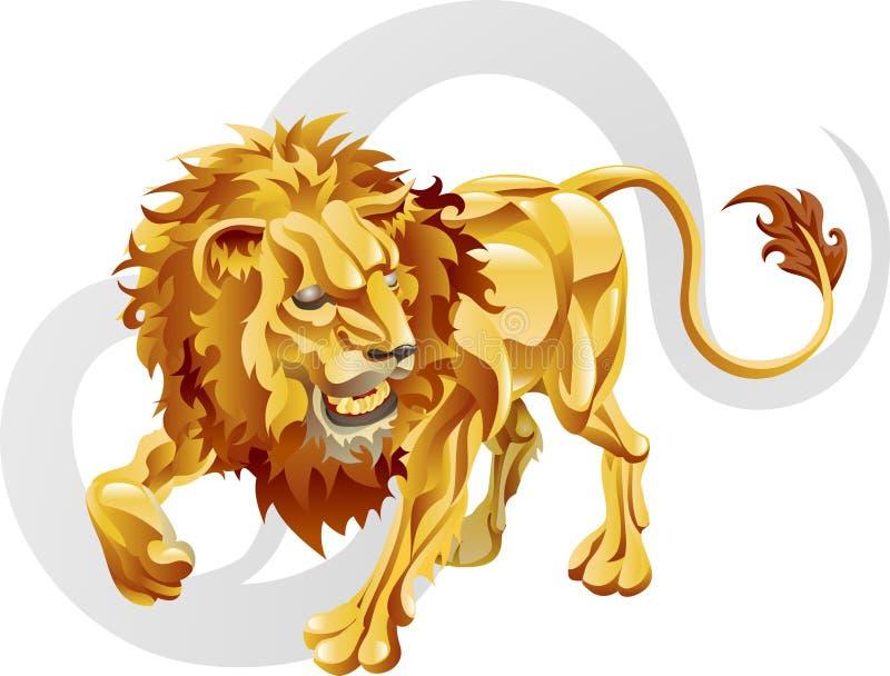 Leo la muestra de la estrella del león ilustración del vector